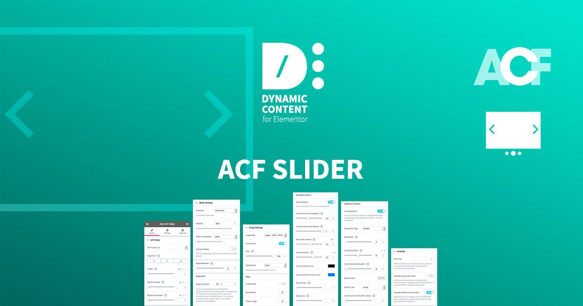 ACF Slider - Dynamic Content for Elementor - Wordpress Plugin